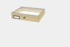 Lime wood drawer - 23 x 30 x 6 cm, with plastazote foam and brass fittings
