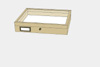 Lime wood drawer - 30 x 40 x 6 cm, with plastazote foam and brass fittings