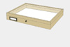 Lime wood drawer - 40 x 50 x 6 cm, with plastazote foam and brass fittings