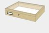 Lime wood drawer - 40 x 50 x 8 cm, with plastazote foam and brass fittings