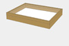 Oak wood drawer - 40 x 50 x 6 cm, with plastazote foam