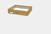 Oak wood drawer - 23 x 30 x 6 cm, with plastazote foam and brass fittings