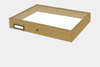 Oak wood drawer - 40 x 50 x 6 cm, with plastazote foam and brass fittings