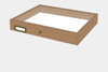 Alder wood drawer - 40 x 50 x 6 cm, with plastazote foam and brass fittings