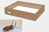 Alder wood drawer - 40 x 50 x 8 cm, with plastazote foam and brass fittings