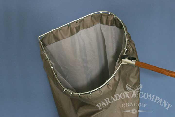 Heavy - Duty Sweep Net, teardrop, green bag