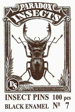 Insect Pins - Black <b>No 7</b>, 100 pcs.