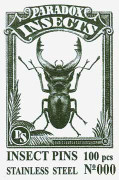 Insect Pins - Stainless Steel <b>No 000</b>, 100 pcs.