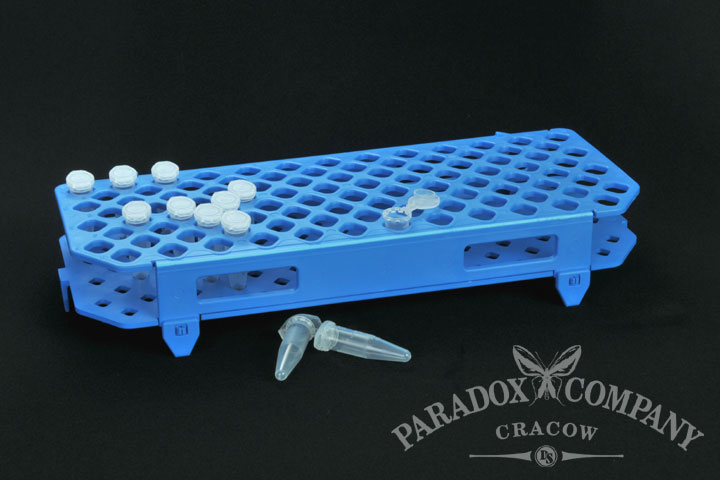 Holder for 100 Eppendorf type micro tubes